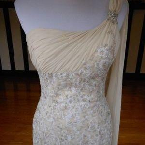 Justin Alexander One Shoulder Goddess Wedding Gown
